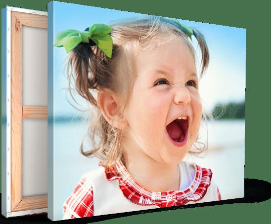 Foto op canvas met schreeuwend meisje