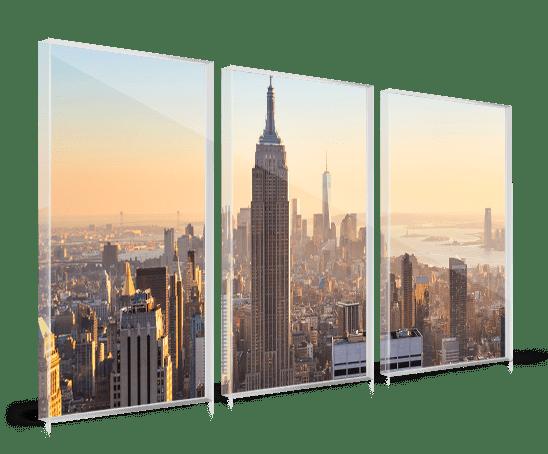 Foto op plexiglas drieluik met skyline stad