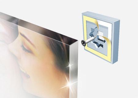 Foto op plexiglas zwevend ophangsysteem in detail