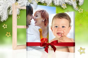 Kerst site foto op canvas cadeau aanzicht