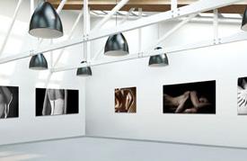 Plexiglas in galerie voor ondernemingen