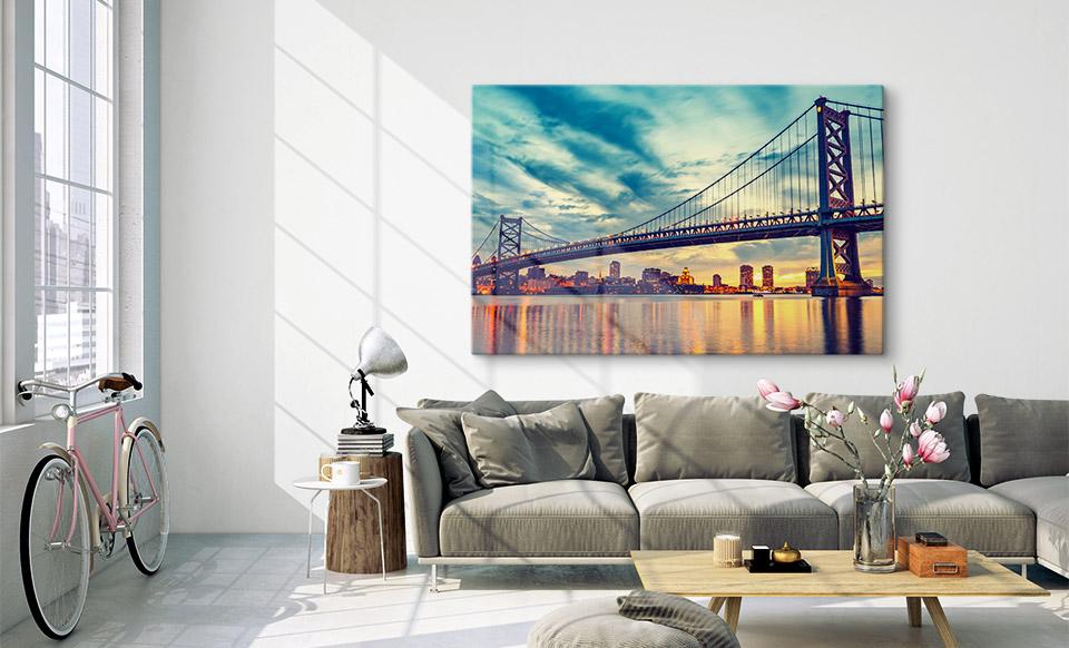 foto op acryl woonruimte