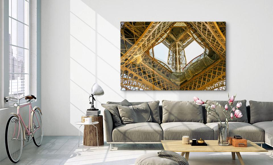 foto op aluminium aanbieding woonruimte