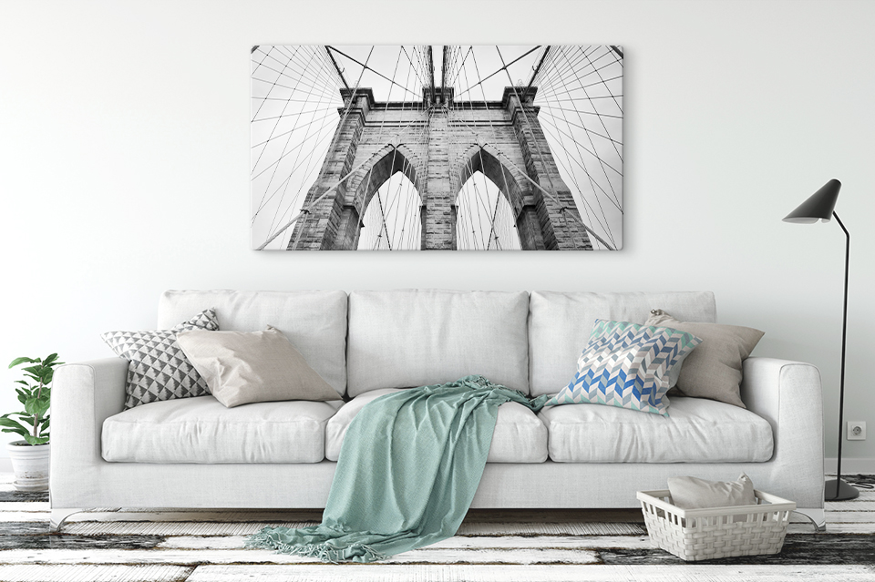foto op plexiglas zwart wit woonruimte