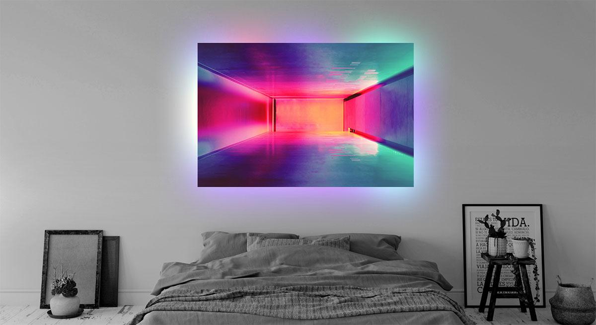 foto plexiglas verlichting appartment