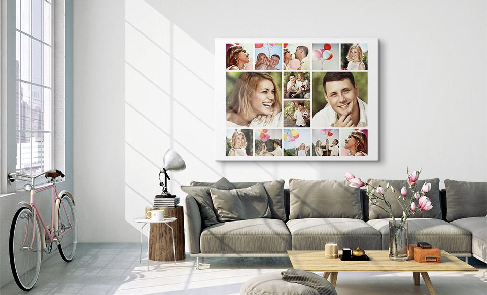 fotocollage op plexiglas woonruimte